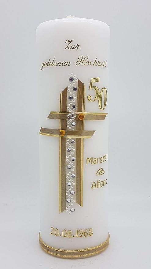 Kerze Goldene Hochzeit Mit Namen Datum Gh 15