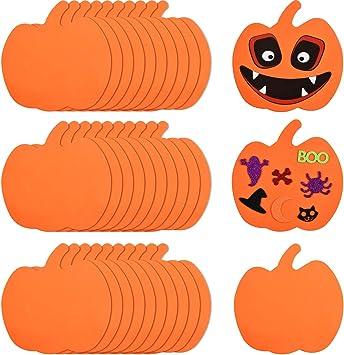 Zucca Halloween Per Bambini.Outus 30 Pezzi Schiuma Zucche Halloween Forme Zucca Halloween Craft Kit Per Halloween Bambini Craft Festa Decorazioni Amazon It Giochi E Giocattoli