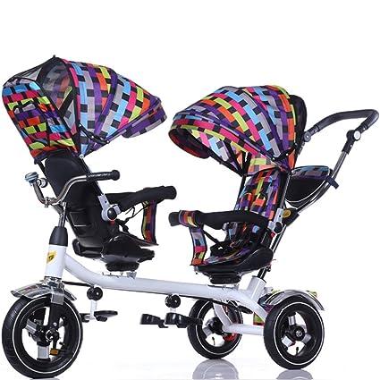 Amazon.com: olizee bebé Kids Gemelos Doble carriola para ...