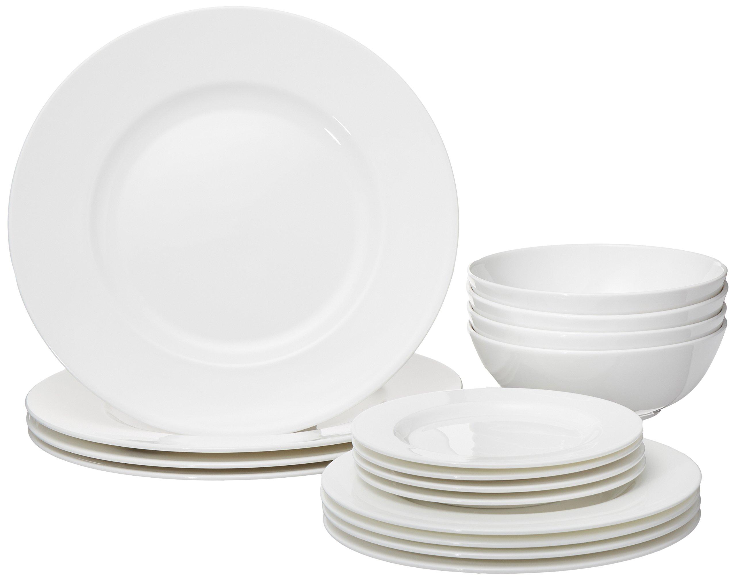 Lenox 16 Piece Classic White Dinnerware Set