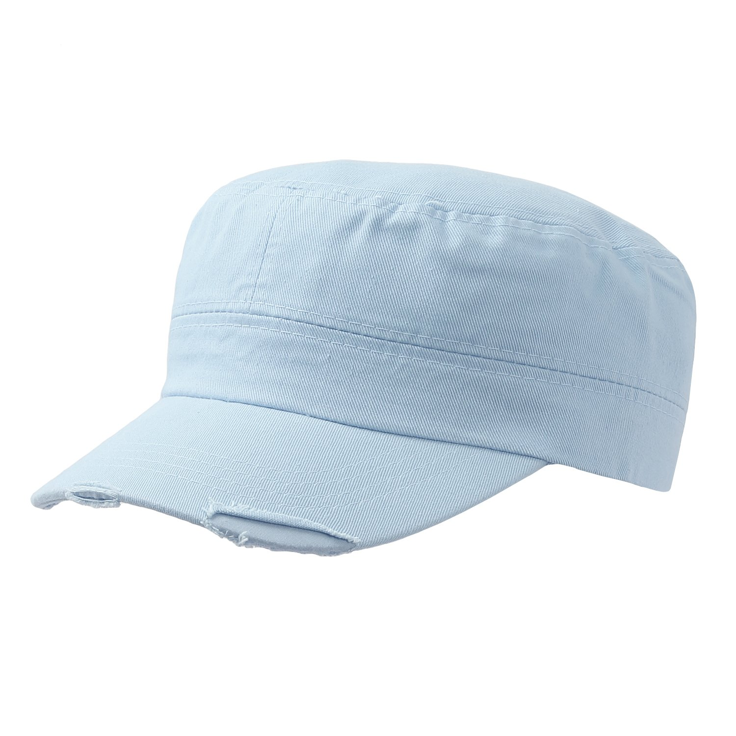6db5ce7b25a Plain Cadet Hat With Distressed Visor at Amazon Men s Clothing store