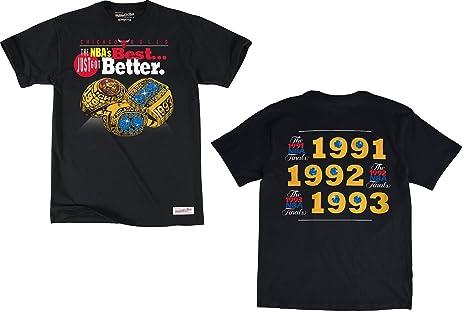 Negro de Chicago Bulls NBA Campeonato de la mejor 3peat Anillos camiseta