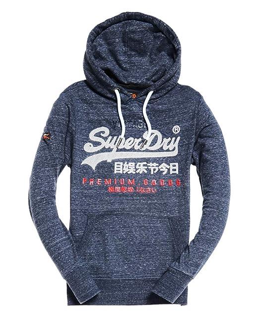meet be545 03886 Superdry Men's Premium Goods Pullover Hoodie, Blue: Amazon ...