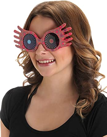 Amazon Com Harry Potter Luna Lovegood Spectrespecs Costume Glasses For Kids And Adults Clothing