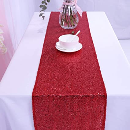 Attrayant Amazon.com: 12 By 108 Inch Wedding Red Sequin Table Runner, Red: Home U0026  Kitchen