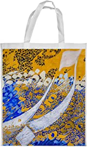 Abstract art Printed Shopping bag, Small Size