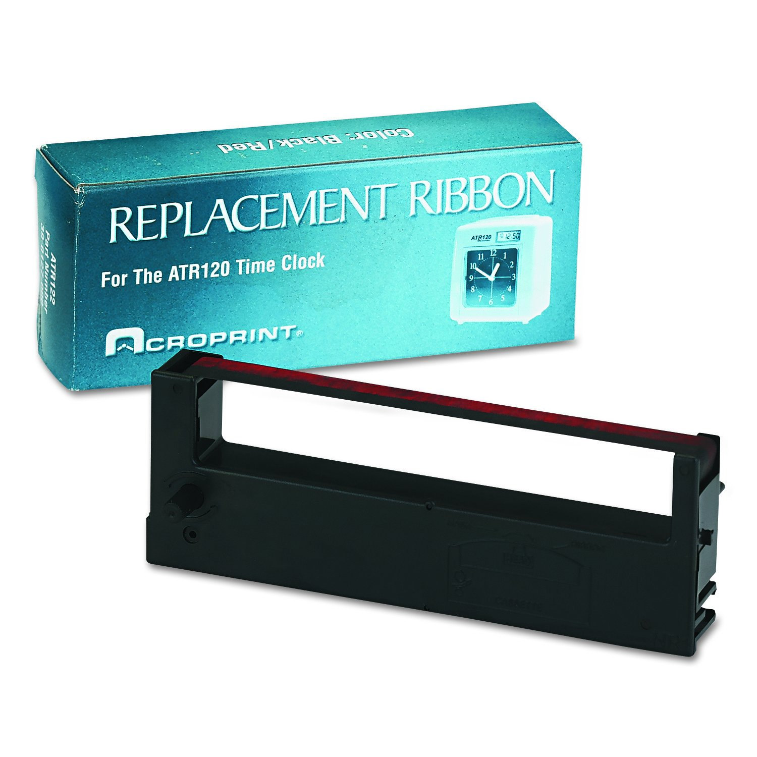 Acroprint Time Recorder Co. Acroprint 39-0127-000 Replacement Ribbon for ATR120 Time Recorder, Black/Red Time Clock