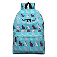 Miss LuLu Backpack Rucksack Travel Camping School Bags Women Butterfly Flower Polka Dot Elephant Fish Galaxy Retro