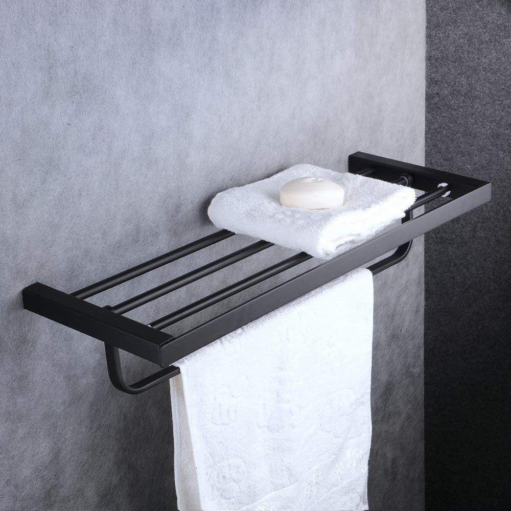 86//5000 La pared de 24 pulgadas de las barras de la toalla de ba/ño riega la pintura montada en la pared Beelee BA8502B pintura negra