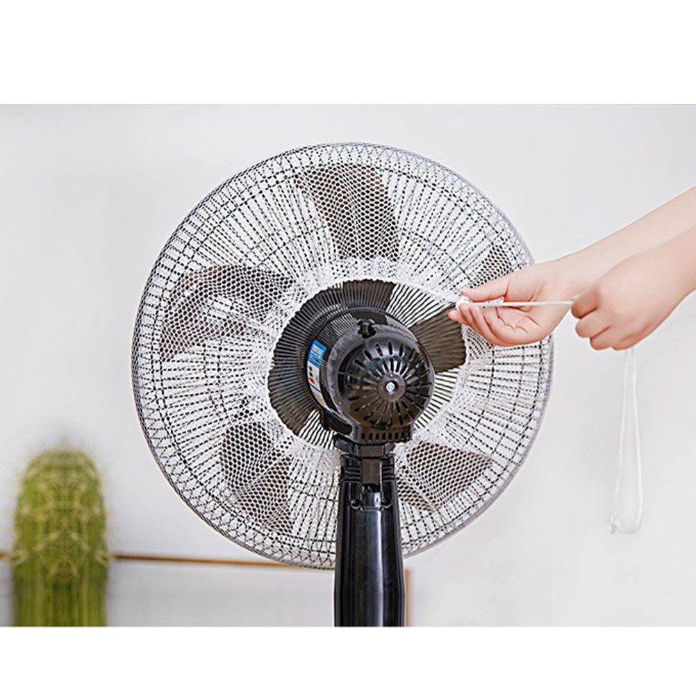 LIOOBO 2 Piezas Cubierta del Ventilador Cubierta Protectora del Polvo de la protecci/ón del Ventilador de la protecci/ón contra el Polvo Neta