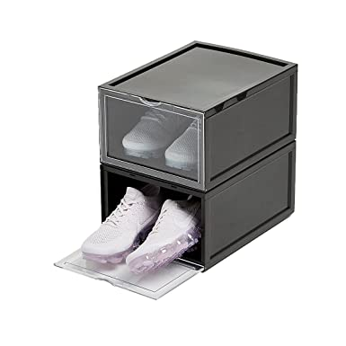 Crep Protect Sneaker Storage Box Black/Clear Unisex Shoe Storage