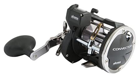 Okuma Convector Line Counter Levelwind Trolling Reel 20 220, CV-20D, Silver and Black Line Counter