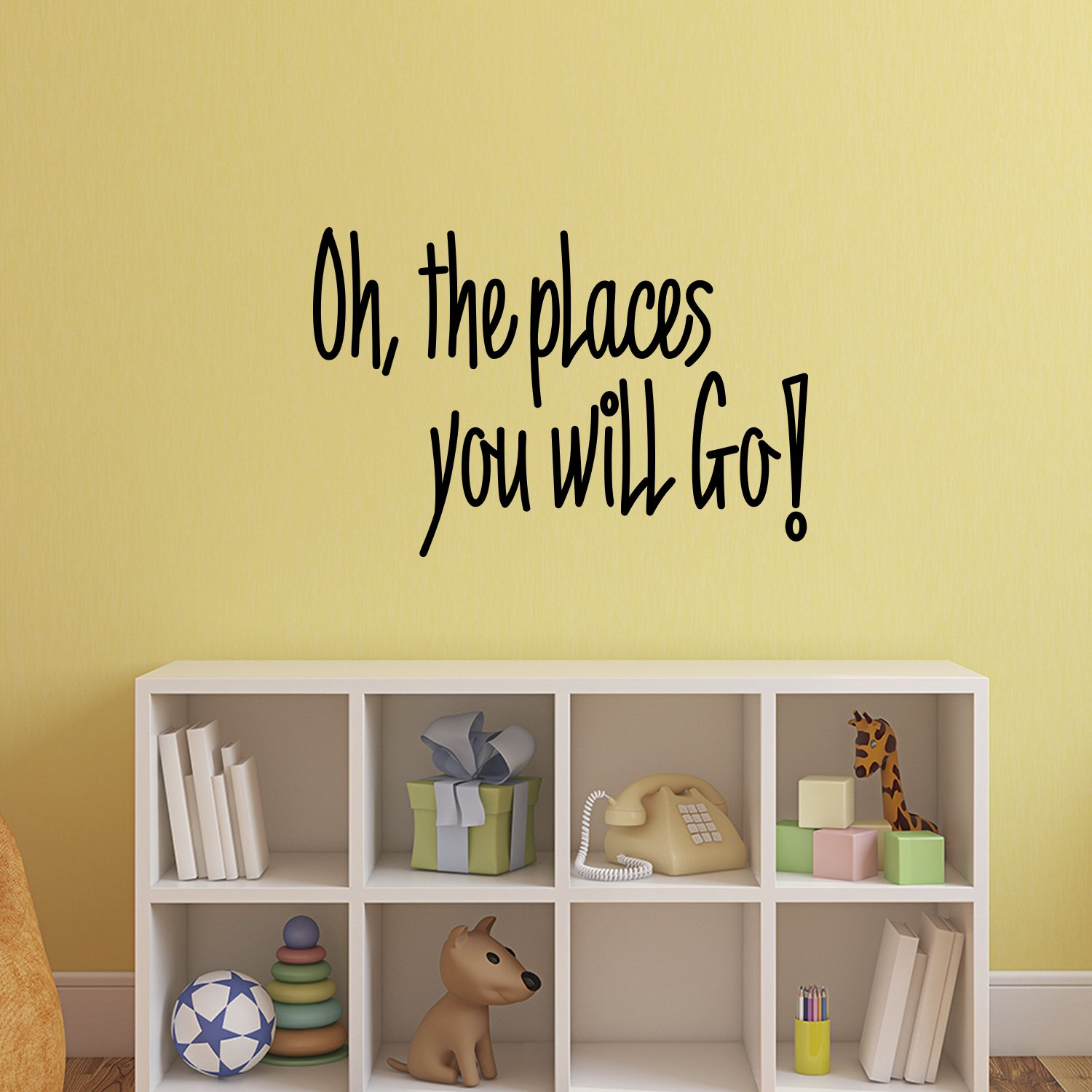 Amazon.com: Oh, The Places You Will Go! - Dr. Seuss Quotes - Vinyl ...