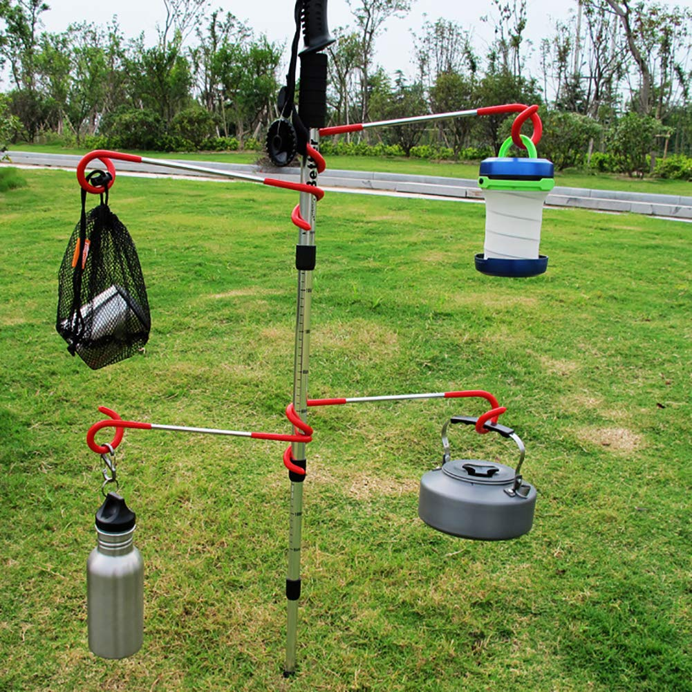 vitihipsy Outdoor Camping Multi-Functional S Spiral Metal Two-Way Camp Tent Light Hook Gas Lamp Hook