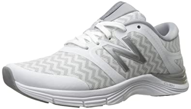 New Balance Womens WX711V2 Cross Trainer White SilverZig Zag Graphic