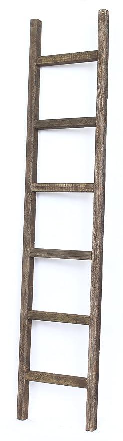 BarnwoodUSA Rustic 6 Foot Decorative Ladder