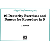 Finger Dexterity Exercises for Recorders in F (Hargail Performance Series) book cover