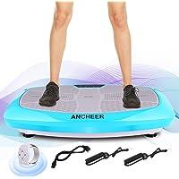 ANCHEER 3D Unisex-Adult Vibrationsplatte Ganzk?rper Trainingsger?t rutschfest, Vibrationsger?t mit Armband Fernbedienung LCD Display Trainingsb?nder