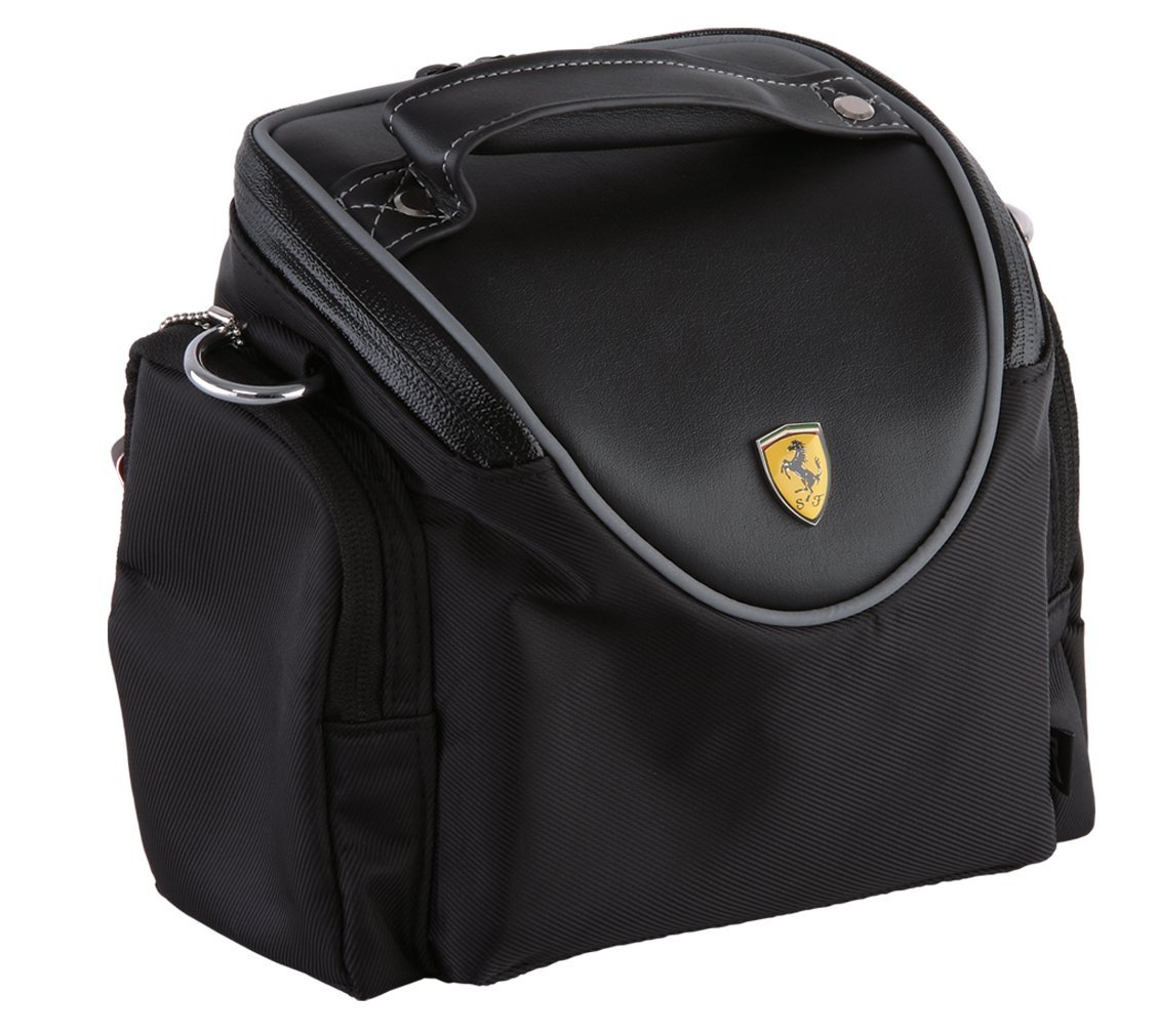 Ferrari Bicycle Hanging Black Bag, Rear seat, Mini Commuter Bag, Quick- release.