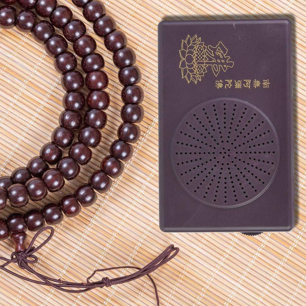 Buddha Praying Dedicated Black Prayer Machine f/ür die Single Cycle Hall von Amitabha Buddha Linderung von Angst und Stress ohne Batterie