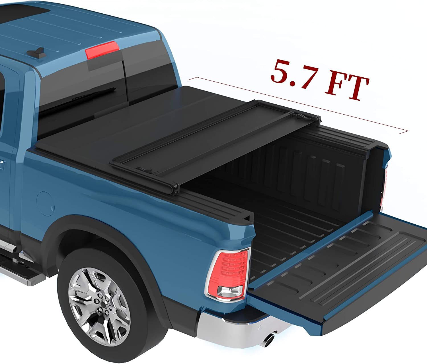Amazon Com Yitamotor Soft Tri Fold Truck Bed Tonneau Cover Compatible With 2019 2020 Dodge Ram 1500 5 7 Ft Automotive
