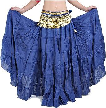 Faldas Largas De Danza del Vientre para Mujer Boho Gypsy Flowy ...