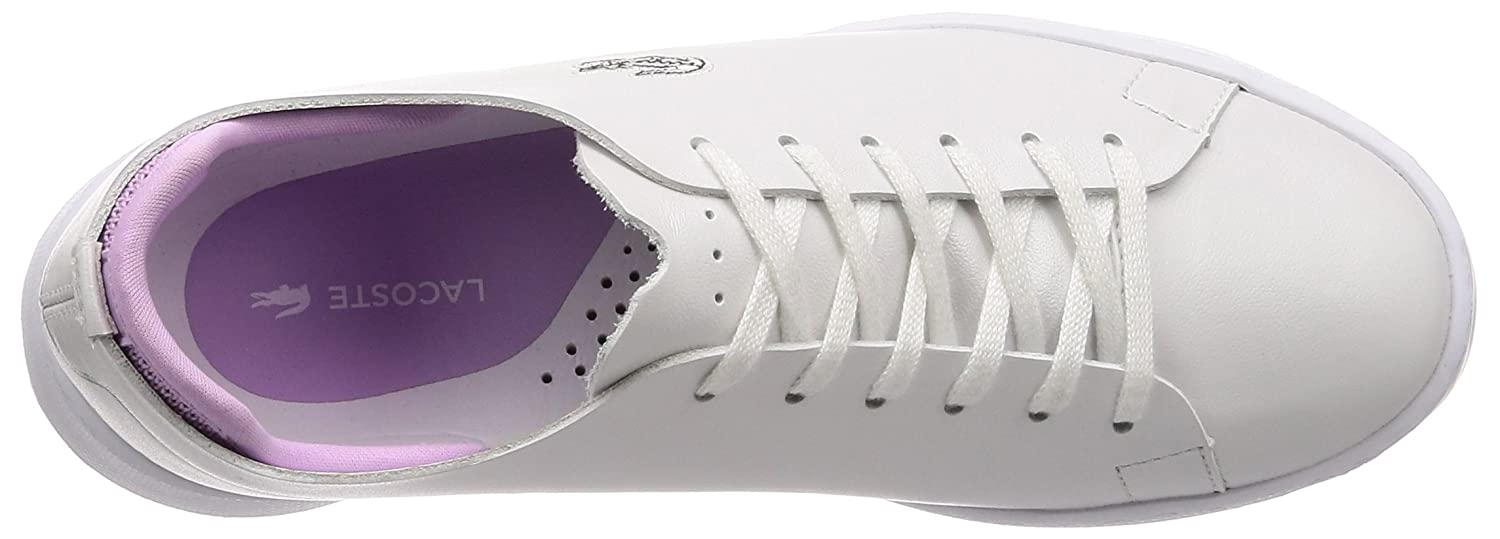 bb5ddf5e6 Lacoste Womens White Light Purple Eyyla 118 1 Trainers  Amazon.co.uk  Shoes    Bags