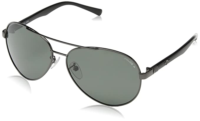 Amazon.com: Policía 8640 568p Dark Gunmetal 8640 Aviator ...