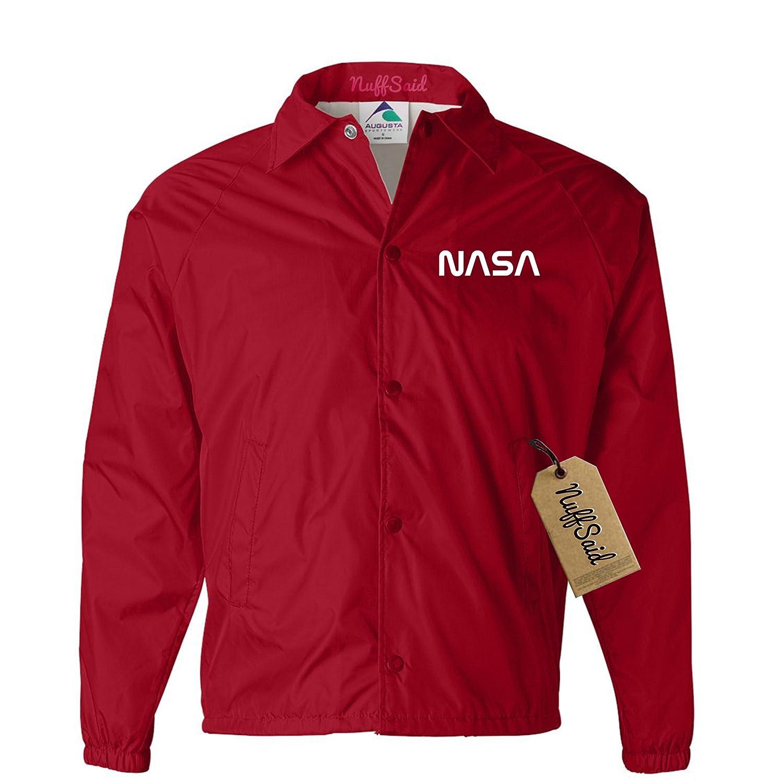 NuffSaid NASA Jacket Worm Font Logo Snap Up Windbreaker - Unisex Jacket