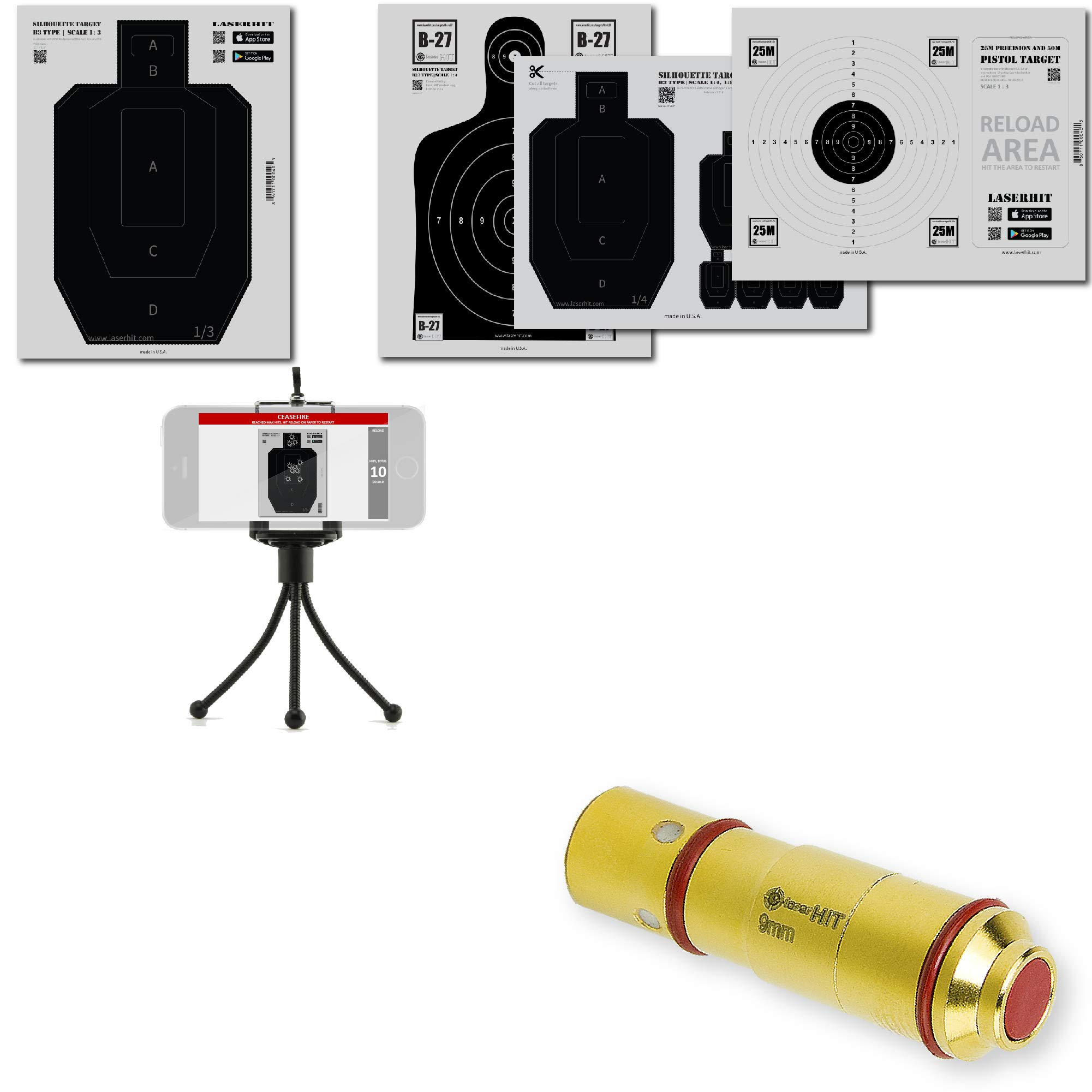 LaserHIT Dry Fire Training Kit (iOS, 9mm/HD Mini)