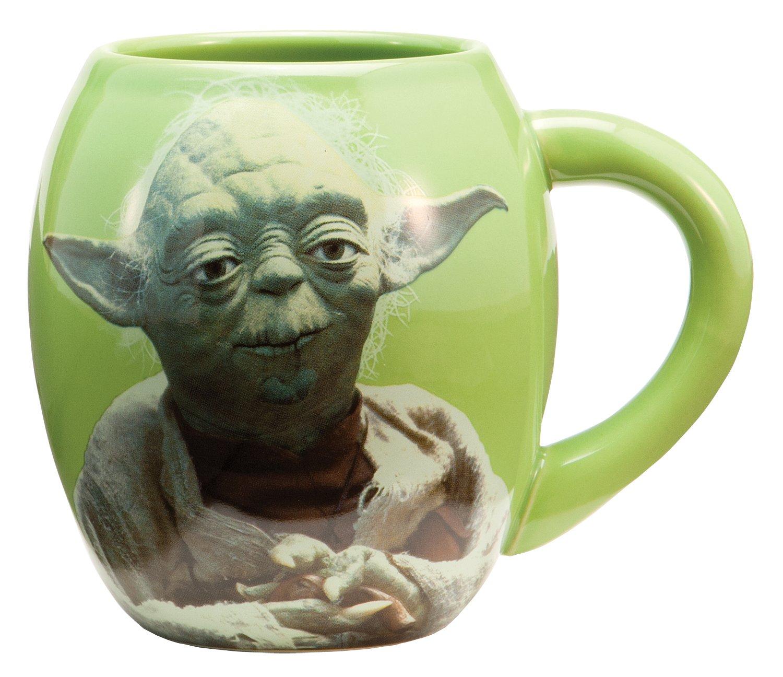 Vandor 99068 Star Wars Yoda Jedi Master 18 oz Oval Ceramic Mug in Green