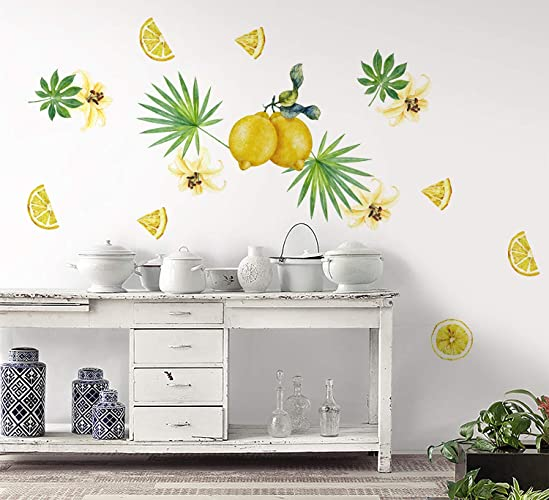 Amazon Com Murwall Lemon Wall Decal For Kitchen Lemon Wall