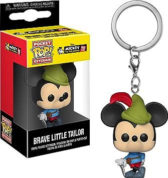 Funko Keychain Disney Llavero con Anilla Mickey Brave Little Tailor, Multicolor (32174)