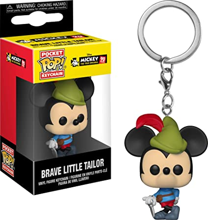 Funko Pop Keychain: Mickeys 90Th - Brave Little Tailor Collectible Figure, Multicolor