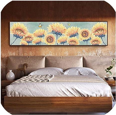 5D DIY Diamond Painting Sunflower Cross Stitch Embroidery Living Room Decor LT