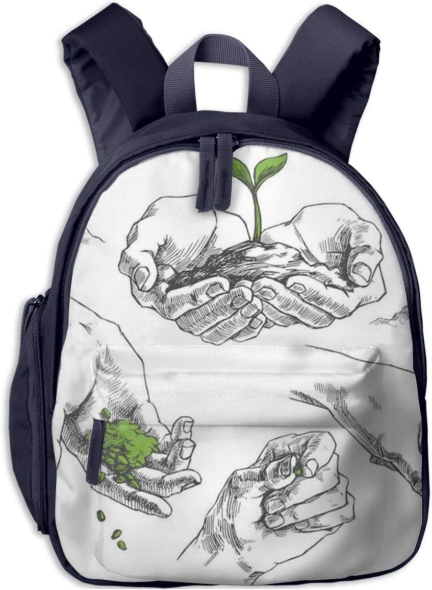 Bolsa La Escuela Mochila con Planta de semillero Impermeable Mochilas para Niños Niñas
