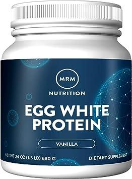 Natural proteína clara de huevo, vainilla francesa, 24 de oz (680 g) - MRM