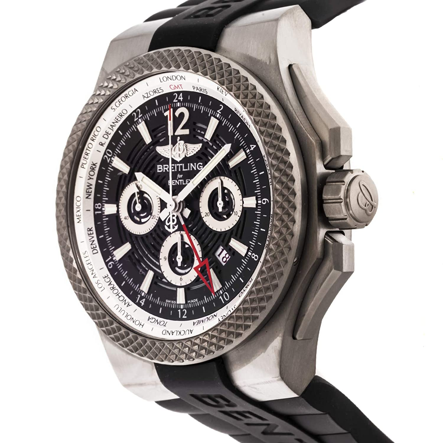 Amazon Breitling Bentley Mechanical Automatic Black Dial Mens
