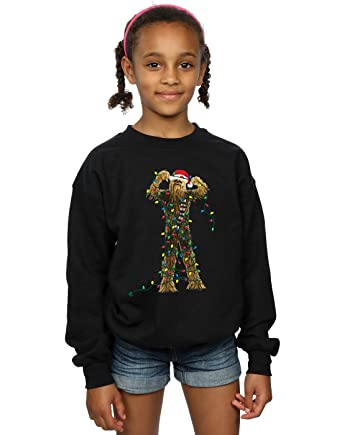 34c19aa7f7bc9c Star Wars Girls Chewbacca Christmas Lights Sweatshirt 5-6 Years Black