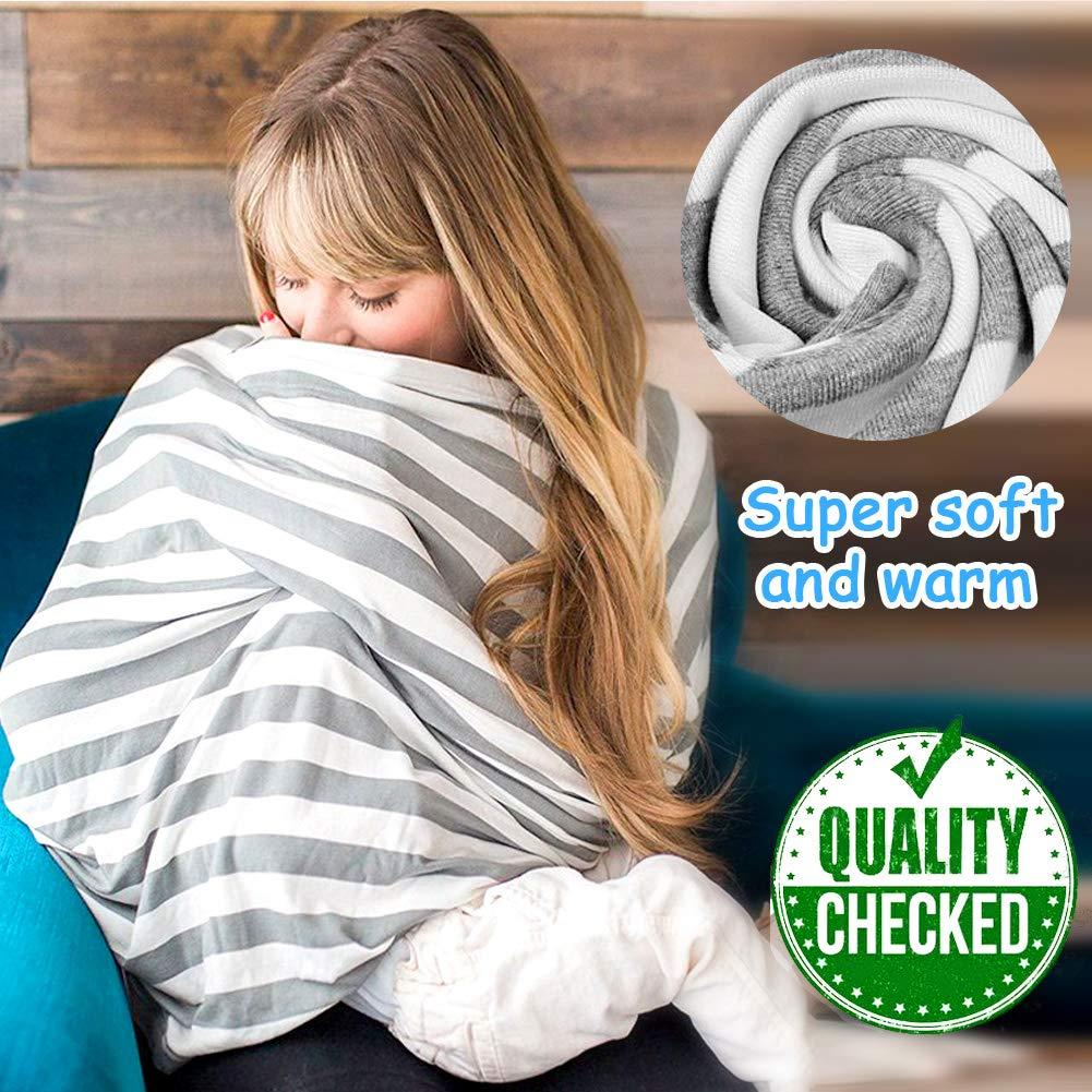 Nursing Cover Atmungsaktive Warenkorb Swaddle Decke Pflegeabdeckung Stilltuch aus Weichem Baumwoll f/ür 360 Grad Volle Privatsph/äre Stillen Schutz Stillschal