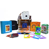 Fujifilm Instax Mini 9 Festive Pack Instant Camera (Smokey White)