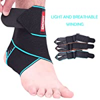 Beskey Ankle Support, Adjustable Ankle Brace Breathable Nylon Material Super Elastic and Comfortable One Size Fits all, Perfect for Sports, Protects Against Chronic Ankle Strain, Sprains Fatigue etc