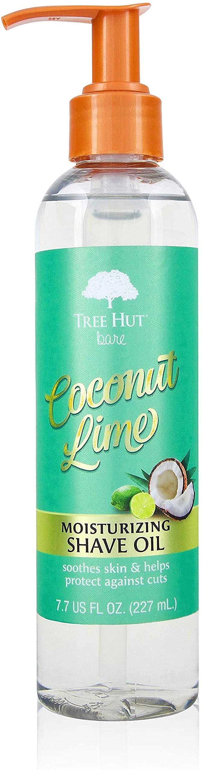 Tree Hut bare Moisturizing Shave Oil, Basic, Coconut-Lime, 7.7 Fl Oz