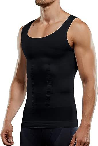 Men's Compression Tank Top Seamless Slimming Body Shaper Vest Shirt Shapewear Abs Abdomen Slim