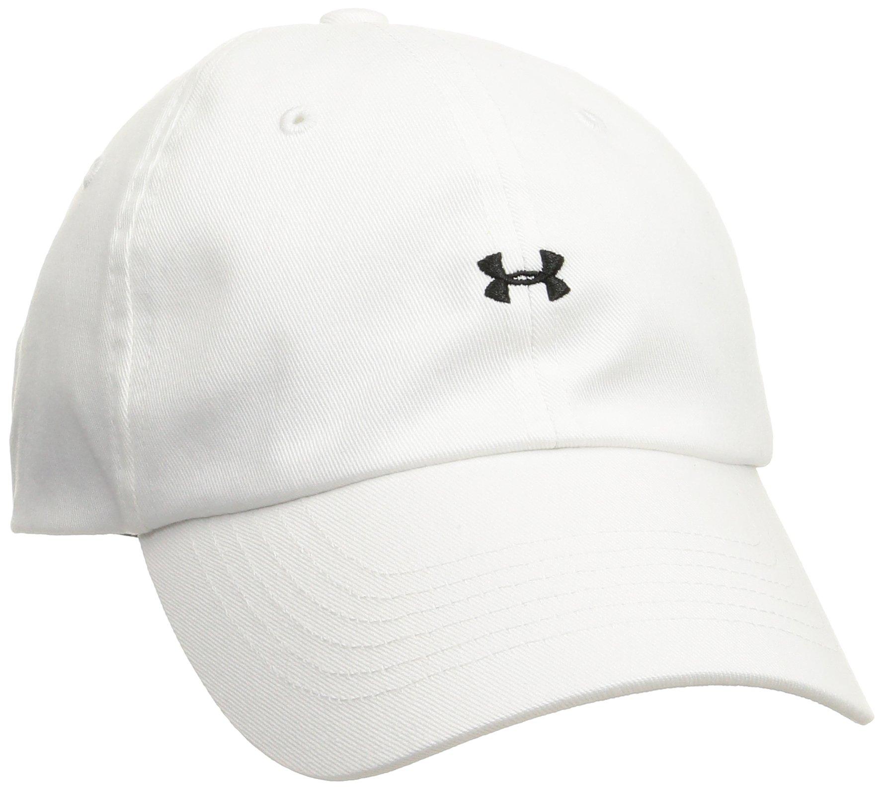 Under Armour Womens Favorite Logo Cap, White (100)/Black, One Size