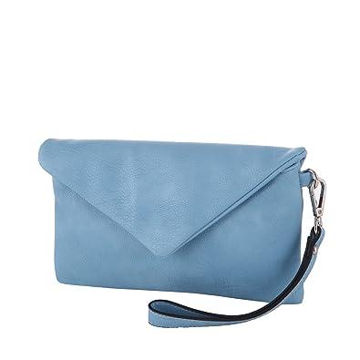 42d8e8a0887b3 LOUBS Clutch Kunstleder Abendtasche MA-144 in verschiedenen Farben (blau)