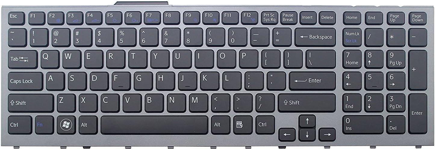 wangpeng New US Backlit Black /& frame Keyboard for Sony VPCF134FX VPCF136FM VPCF136FX