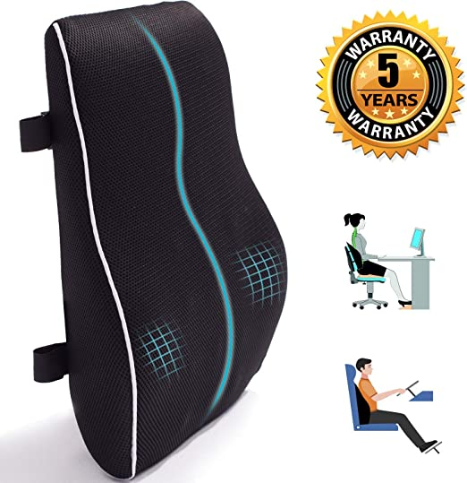 Amazon Com Lumbar Support For Office Chair Memory Foam Back