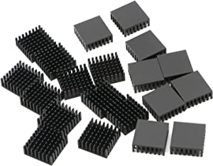 Senmod 25 x 25 x 10mm Heat Sink Cooling Module Aluminum Heatsink Cooler Fin, Pack of 20