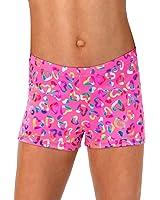 Girls Foil Heart Shorts,G617C